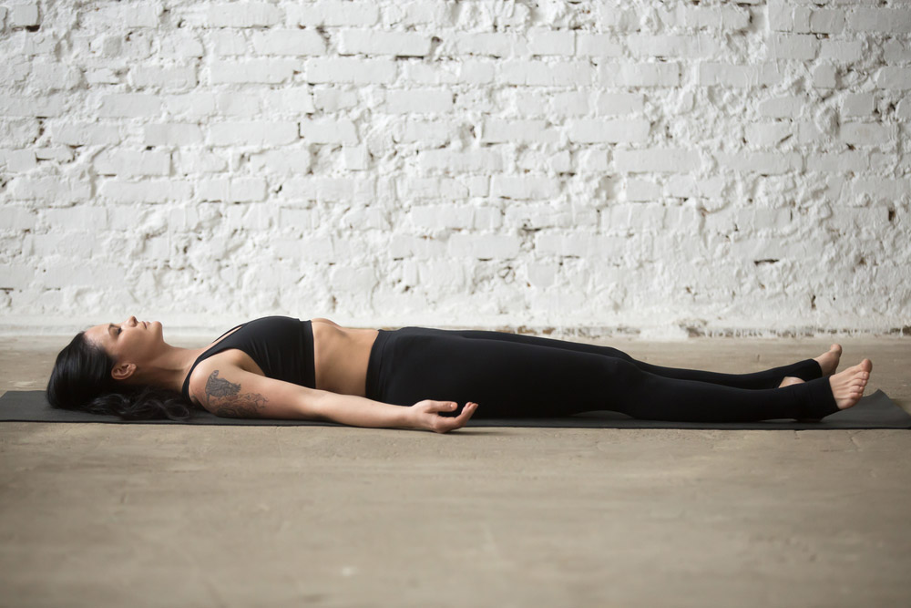 corpse pose shavasana with step by step lesson lessons com