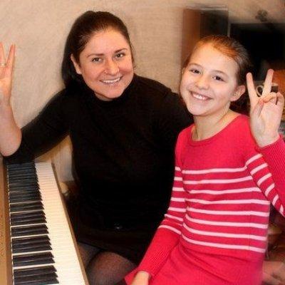 Piano teacher hand job for